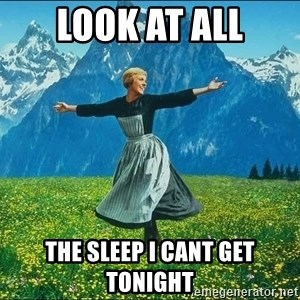 Look at all the things - LOOK AT ALL THE SLEEP I CANT GET TONIGHT