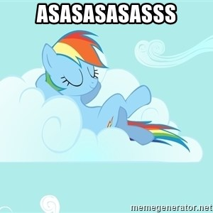 Rainbow Dash Cloud - asasasasasss