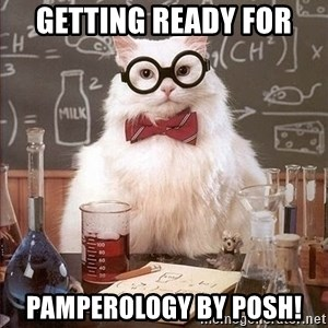 Chemistry Cat - Getting ready for Pamperology by Posh!