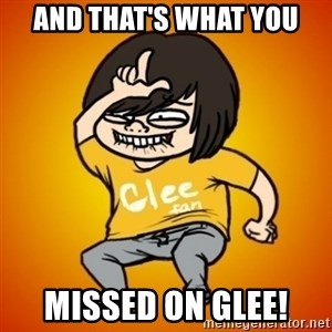 TypicalGleek - and that's what you missed on glee!