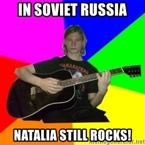 Russian rocker - in soviet russia Natalia still rocks!