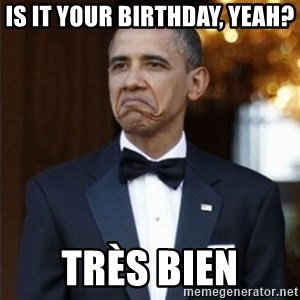 Not Bad Obama - is it your birthday, yeah? très bien