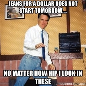 Mom Jeans Mitt - Jeans for a dollar does not start tomorrow.... no matter how hip I look in these