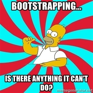 Frases Homero Simpson - Bootstrapping... Is there anything it can't do?