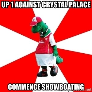 Arsenal Dinosaur - Up 1 against crystal palace commence showboating