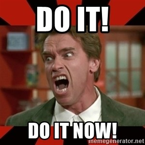 Arnold Schwarzenegger 1 - DO IT! DO IT NOW!