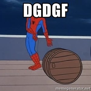 Spiderman and barrel - DGDGF