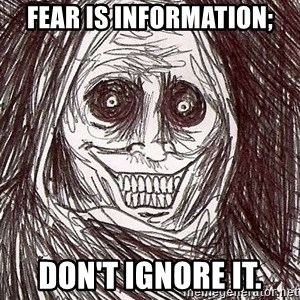 Shadowlurker - Fear is information; don't ignore it.
