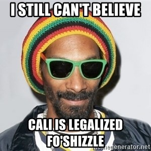 Snoop lion2 - I still can't believe Cali is legalized fo'shizzle