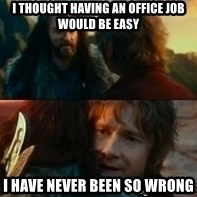 Never Have I Been So Wrong - I thought having an office job would be easy I have never been so wrong