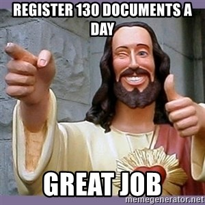 buddy jesus - Register 130 documents a day Great Job
