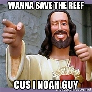 buddy jesus - WANNA SAVE THE REEF CUS I NOAH GUY