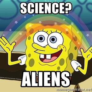 Spongebob Squarepants Imagination - science? aliens