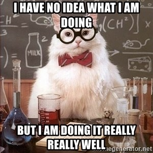 Chemistry Cat - I have no idea what i am doing but i am doing it really really well