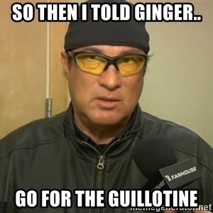 Steven Seagal Mma - So then I told Ginger.. Go for the guillotine