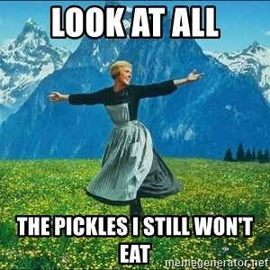 Look at all the things - Look At All The Pickles I Still Won't Eat