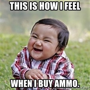 evil toddler kid2 - This is how I feel when I buy ammo.