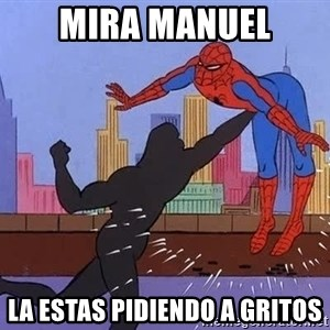 crotch punch spiderman - Mira manuel La estas pidiendo a gritos
