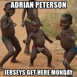 Dancing african boy - Adrian Peterson Jerseys Get Here Monday