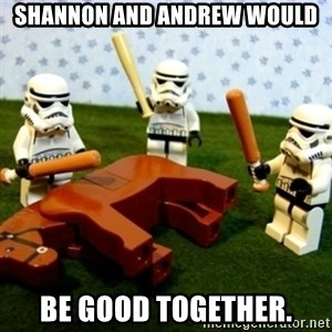 Beating a Dead Horse stormtrooper - Shannon and Andrew would be good together.