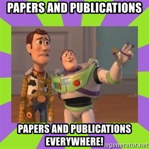 X, X Everywhere  - Papers and Publications papers and publications everywhere!