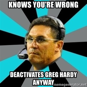 Stoic Ron - Knows you're wrong Deactivates Greg Hardy anyway