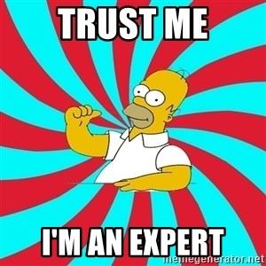 Frases Homero Simpson - TRUST ME I'M AN EXPERT