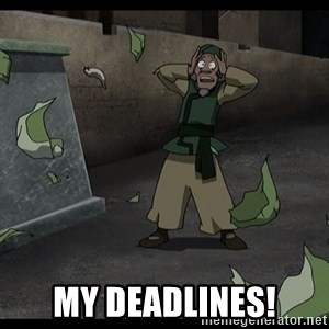 My cabbages -  MY DEADLINES!