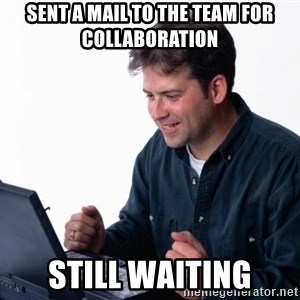Net Noob - sent a mail to the team for collaboration still waiting