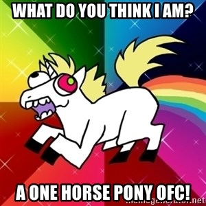 Lovely Derpy RP Unicorn - What do you think I am? A one horse pony ofc!