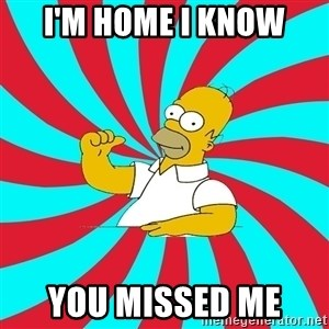 Frases Homero Simpson - I'm home I know You missed me