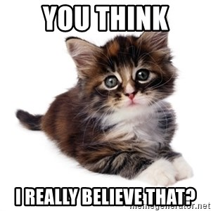 fyeahpussycats - YOU THINK I REALLY BELIEVE THAT?