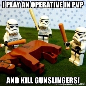 Beating a Dead Horse stormtrooper - I Play an Operative in PVP and kill gunslingers!