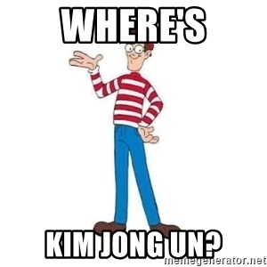 Where's Waldo - Where's Kim Jong Un?