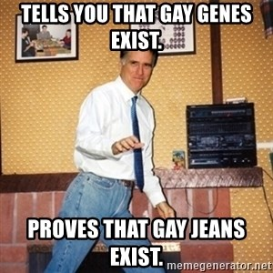 Mom Jeans Mitt - tells you that gay genes exist. proves that gay jeans exist.