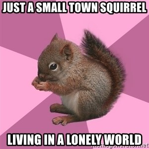 Shipper Squirrel - Just a small town squirrel Living in a lonely world