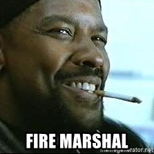 Denzel Washington Cigarette -  Fire Marshal