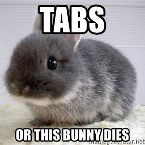 ADHD Bunny - Tabs or this bunny dies
