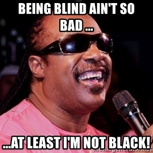 stevie wonder - being blind ain't so bad ... ...at least i'm not black!