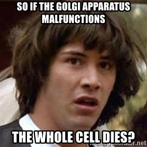 Conspiracy Guy - So if the Golgi Apparatus malfunctions  The whole cell dies?