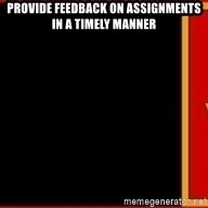 tui ad - provide feedback on assignments in a timely manner