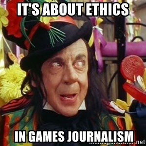 Child catcher - it's about ethics  in games journalism