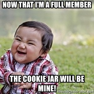 evil asian plotting baby - Now that i'm a full member the cookie jar will be mine!