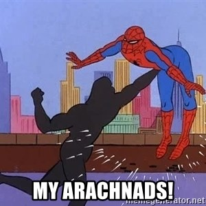 crotch punch spiderman -  my arachnads!