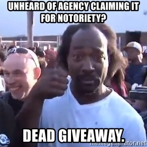 charles ramsey 3 - Unheard of agency claiming it for notoriety? Dead Giveaway.