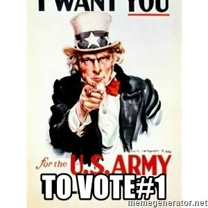 I Want You -  To Vote#1