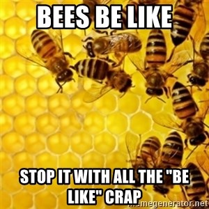 """Honeybees - Bees be like Stop it with all the """"be like"""" crap"""