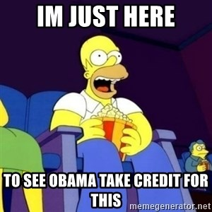 Homer Simpson Popcorn - im just here to see obama take credit for this