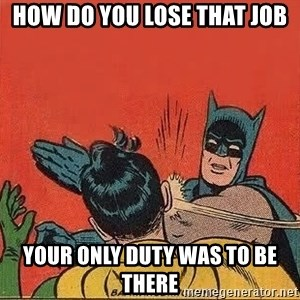 batman slap robin - how do you lose that job your only duty was to be there