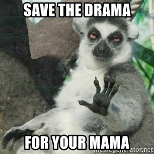 Not Today Lemur - SAVE THE DRAMA FOR YOUR MAMA